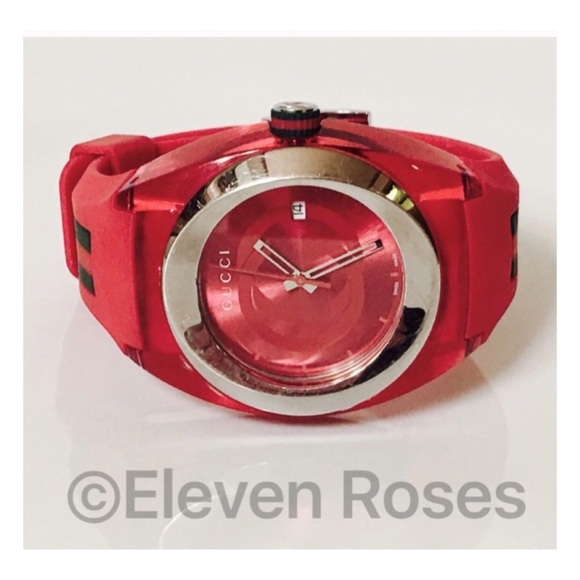 bba1fa75c8a Gucci Other - Men s Gucci Sync Red Rubber Analog Watch